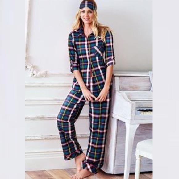 bd1ae8f927 Victoria s Secret The Dreamer Flannel Pajama Set. M 5b6d0232129955fa5ec5cc39